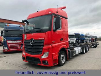 Container transporter/ swap body truck Mercedes-Benz *ACTROS 2542*RETARDER*EURO 5*LIFT ACHSE *