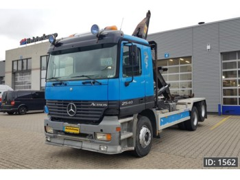 Container transporter/ swap body truck Mercedes-Benz Actros 2540 Day Cab, Euro 2: picture 1