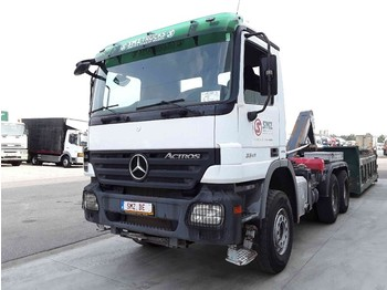 Container transporter/ swap body truck Mercedes-Benz Actros 3341 steel/blad/E 4