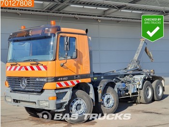 Container transporter/ swap body truck Mercedes-Benz Actros 4140 8X4 Manual Big-Axle Steelsuspension Euro 2