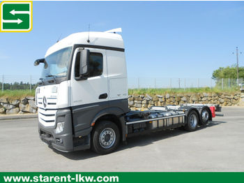 Container transporter/ swap body truck Mercedes-Benz Actros BDF 2543 L, MP 4, Multiwechsler