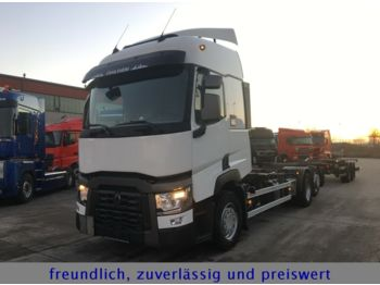 Container transporter/ swap body truck Renault *T 460*EURO 6*LIFT ACHSE*1.HAND*