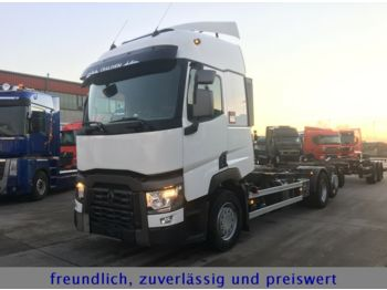 Container transporter/ swap body truck Renault *T 460*EURO 6*LIFT ACHSE*1.HAND*TA.HÄNGER*2xACHS