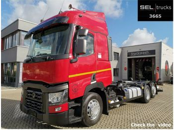 Renault T 480 / Ladeboardwand / Retarder  - container transporter/ swap body truck