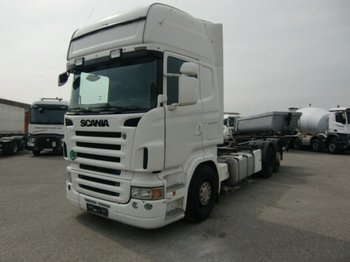 Container transporter/ swap body truck Scania 6x2 BDF, Ladebordwand, E4 Halbautomatik