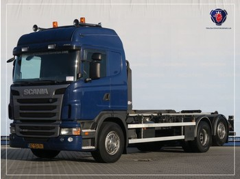Container transporter/ swap body truck Scania G400 LB6X2MNA | HOOKLIFT SYSTEM | ABROLLKIPPER | VDL HAAKARM