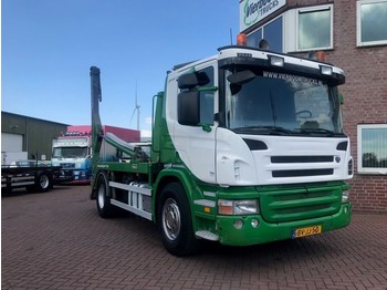 Scania P340 4X2 CONTAINERSYSTEM HYVALIFT TOP CONDITION!! - container transporter/ swap body truck