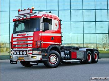 Scania R144 G 530 V8 MANUAL GEARBOX NCH CABEL SYSTEM - container transporter/ swap body truck