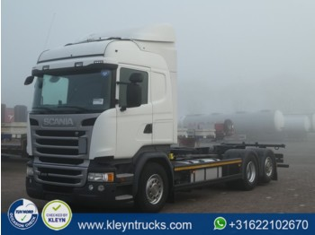 Container transporter/ swap body truck Scania R410 highline mnb ret.