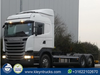 Container transporter/ swap body truck Scania R410 hl 6x2 mnb