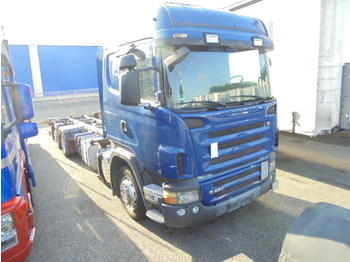 Container transporter/ swap body truck Scania R420LB 6X2: picture 1