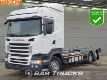 Scania R450 6X2 German truck Retarder Lift+Steering axle ACC Navi Euro 6 - container transporter/ swap body truck