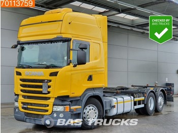 Container transporter/ swap body truck Scania R450 6X2 Retarder Liftachse Standklima Euro 6