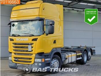 Container transporter/ swap body truck Scania R450 6X2 Retarder Standklima Liftachse 3-Pedals Euro 6