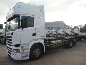 Container transporter/ swap body truck Scania R450, 6x2, BDF