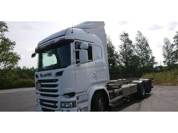 Scania R520LB6X2HNB EURO 6+RETARDER  - container transporter/ swap body truck