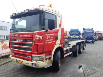 Container transporter/ swap body truck Scania R 124 GB 8X2/4 NA 420