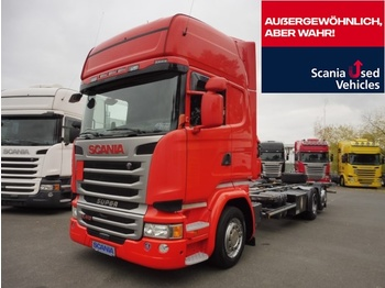 Container transporter/ swap body truck Scania R 410 LB6X2MLB