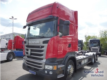 Container transporter/ swap body truck Scania R 410 LB6X2MNB: picture 1