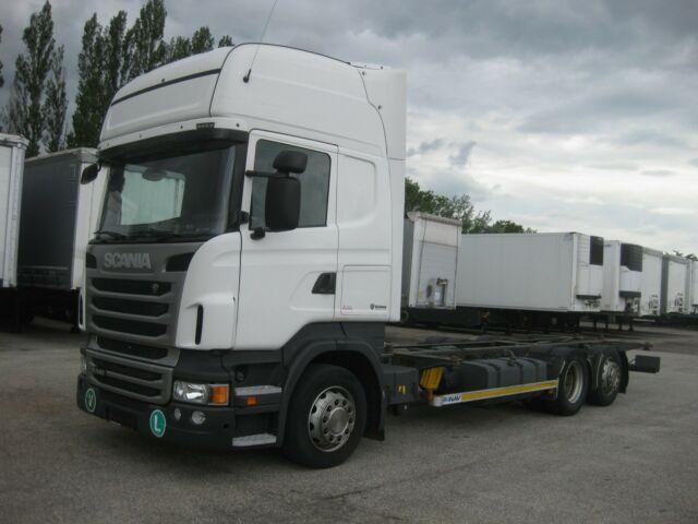 container transporter/ swap body truck Scania - R 440 Jumbo BDF EEV