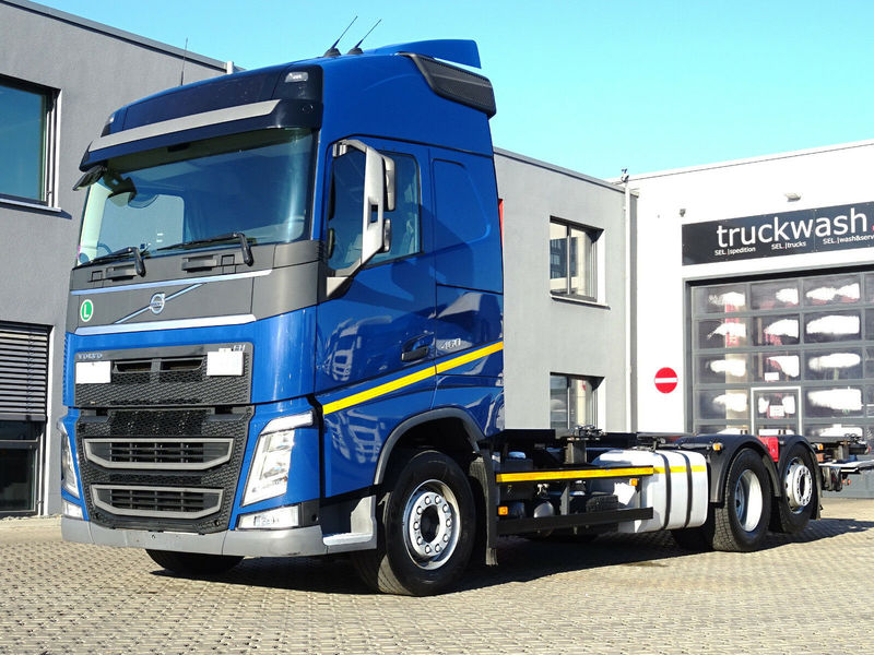 Container Transporter Swap Body Truck Volvo Fh 460 Automatik Liftachse Lbw Dhollandia