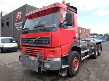 Container transporter/ swap body truck Volvo FM 12 420 6x4 manual big axles