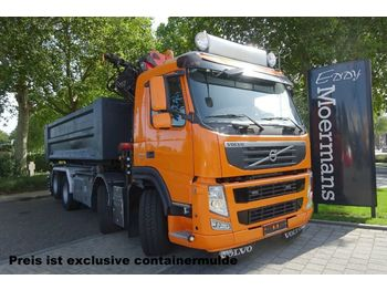Container transporter/ swap body truck Volvo FM 370 Kran - Container 8x2: picture 1