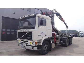 Container transporter/ swap body truck Volvo F 10 - 360 ( FRENCH TRUCK / FASSI F 1402 CRANE / PERFECT CONDITION)