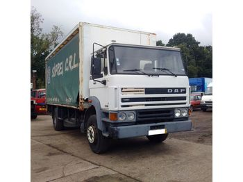 Curtainsider truck DAF 1900 ATI left hand drive 17.5 ton with tail lift