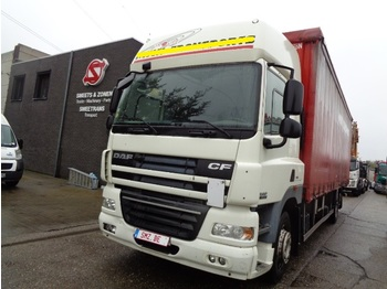 Curtainsider truck DAF 85 CF 410 spacecab intarder