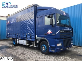 DAF 95 XF 380 EURO 2, Manual, Roof height is adjustable - curtainsider truck