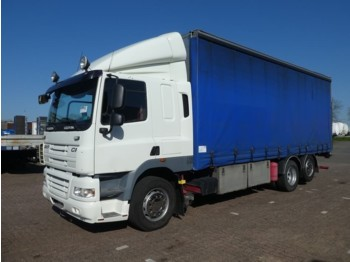 Curtainsider truck DAF CF 85.360 6x2 manual sleep cab