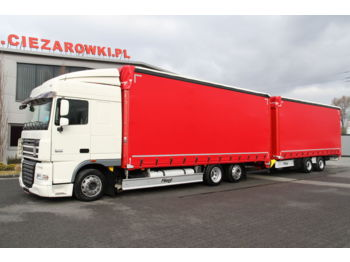 DAF DAF FLIEGL SET FAR XF105.460 E5 6x2 LD 120 m3 SpaceCab LOW SET FAR XF105.460 E5 6x2 LD 120 m3 SpaceCab LOW TPS180 MEGA TARPAULIN - curtainsider truck