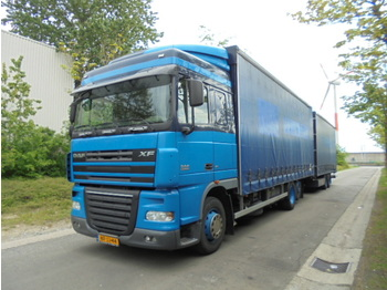 Curtainsider truck DAF FAR XF105.410