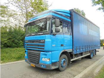 Curtainsider truck DAF FAR XF 105 410