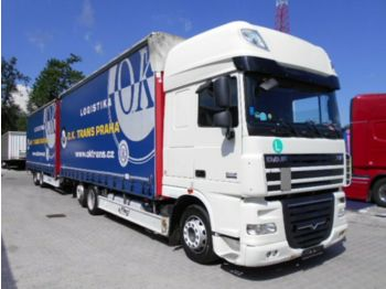 DAF XF105.460 Superspace,EEV, 120m3  - curtainsider truck