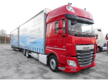 Curtainsider truck DAF XF106.460 SUPERSPACECAB Tandem Jumbo 120m3