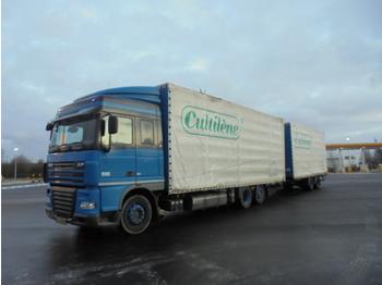 Curtainsider truck DAF XF 105-410 6X2