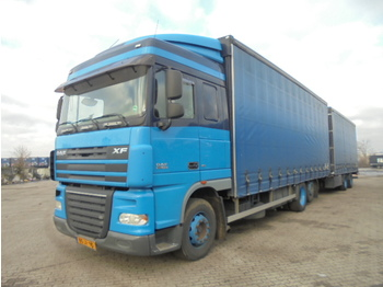Curtainsider truck DAF XF 105.410 6X2: picture 1
