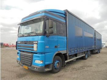 Curtainsider truck DAF XF 105.410 6X2