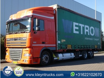 DAF XF 105.410 spacecab manual 6x2 - curtainsider truck