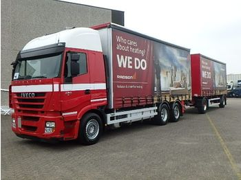 Iveco COMBI Stralis 420 + LAG + Retarder + Airco + lift - curtainsider truck