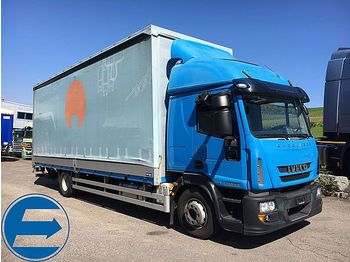 Curtainsider truck Iveco EUROCARGO 150 E 28 Pritsche, Plane, LBW