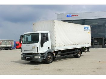 Curtainsider truck Iveco EUROCARGO ML 120E22, HYDRAULIC LIFT