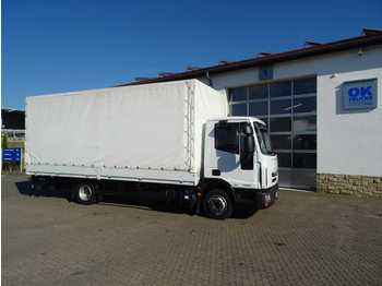 Curtainsider truck Iveco Eurocargo ML75E21 Pritsche/Plane + LBW Euro 6