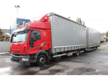 Curtainsider truck Iveco ML 120E28 + trailer G.T.S. 2005