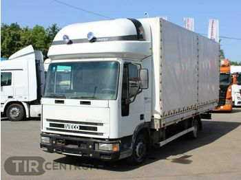 Curtainsider truck Iveco ML 75 E 14 SLEEPING CABIN, WHEELS 80%