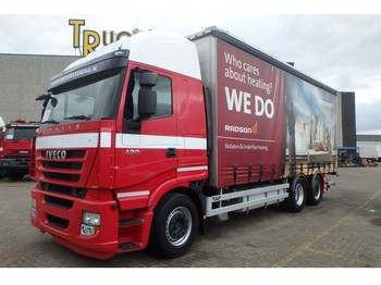 Curtainsider truck Iveco Stralis 420 + Euro 5 + Retarder + Lift + 2 in stock!