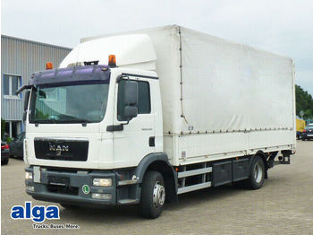 MAN 15.290 TGM, 6.550mm lang, 290PS, Nutzlast 8,2to.  - curtainsider truck