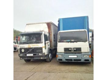 Curtainsider truck MAN 18.264 left hand drive 18 Ton detachable body